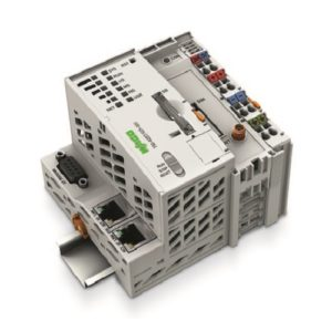 Wago-750-8207025-001-Controller PFC200; 2 x ETHERNET, RS-232-485, Mobile Radio Module; Telecontrol technology; Ext. Temperature