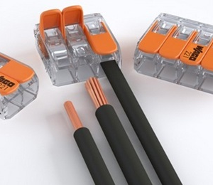 COMPACT Splicing Connectors; 2-conductor connector; with operating levers; Max.ambient operating temp. 85 °C